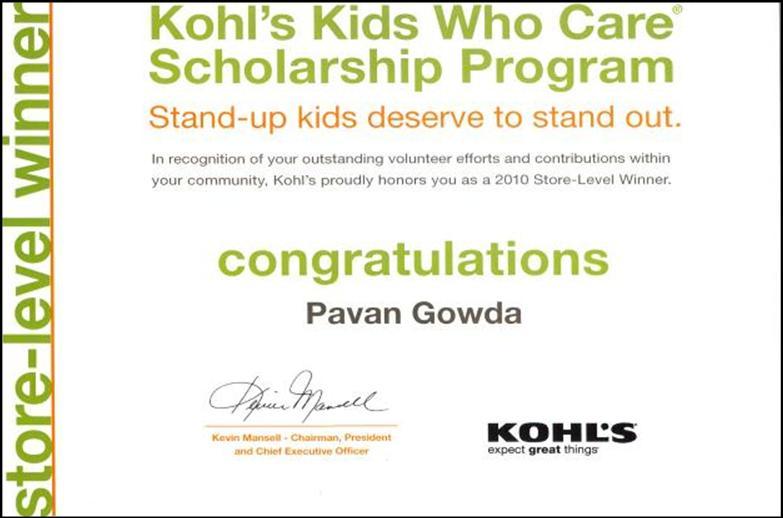 Kohls-award